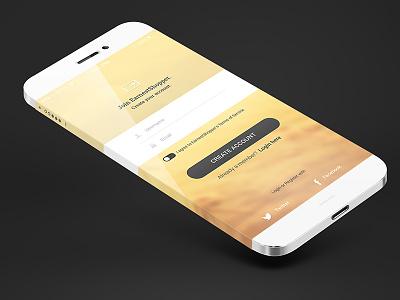 Login Iphone6 Screen mobile login clean flat minimal magneticlab sign up web design