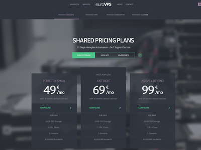 Pricing Table clean modern flat onlinelift e-commerce pricing table