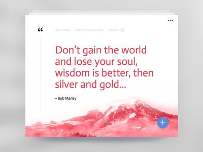Day 003  - Quote Card love typography material minimal clean interface widget quote card