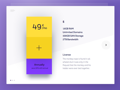 Day 011 -  Product Pricing Plan pricing magneticlab clean plan pricing table card widget ui product