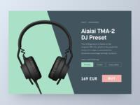 DailyUI - E-commerce Single Product dj aiaiai headphones shop ecommerce product dailyui