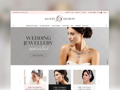 Glitzy Secrets Website responsive branding fashion grid ecommerce shop logo website