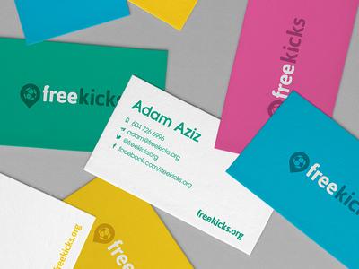 Freekicks Business Card :: Logo Design flat logotype stationery business card print design freelance designer graphic design logo designer logotype corporate identity logo design brand identity branding