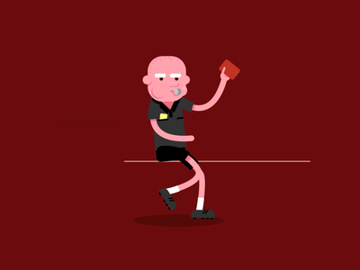 Le Petit Chapron Rouge — Run Cycle Animation funny referee soccer loop animation loop running walk cycle walkcycle after effects motion graphics red run cycle run motiongraphics motion design motion vector design animation illustration