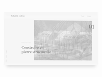 Gabrielle Folio _ Projects Page Concept