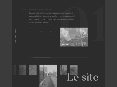 Gabrielle Folio — Case Study Page uxdesign template case study work in progress website web ux uidesign ui typography portfolio photography motion design minimal interaction layered after effects architecture animation layout