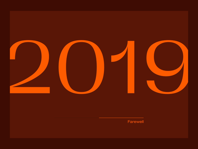 Happy 2020 ! ux slider motion ui trend 2020 2019 after effects minimal motion design typography animation design