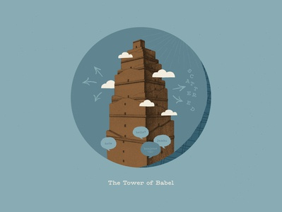 The Tower of Babel grace kids village collage elementary bible timeline genesis bible