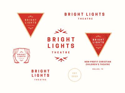 Bright Lights Theatre theater design threatre logo red curtain