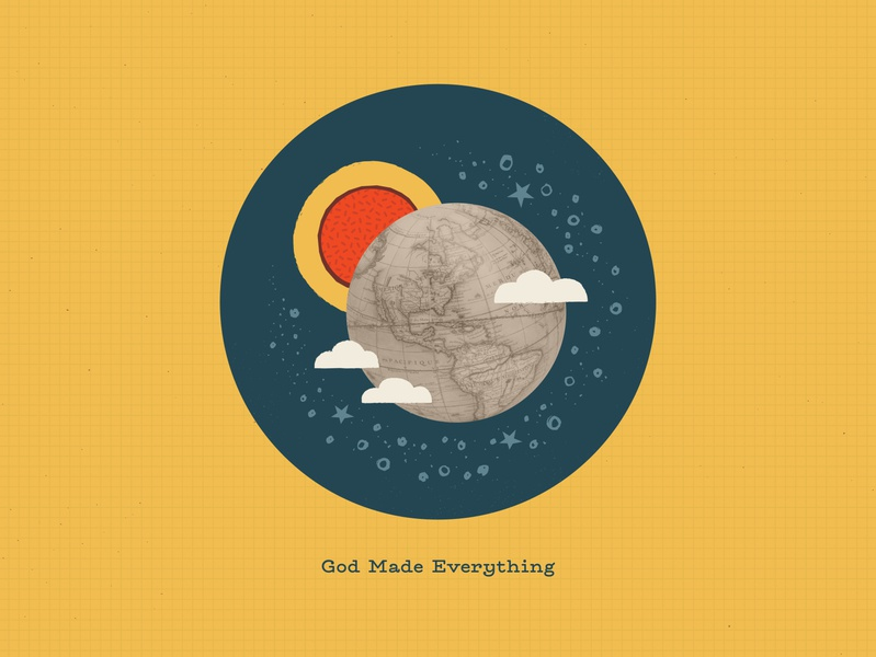 God Made Everything bible timeline genesis collage elementary kids bible