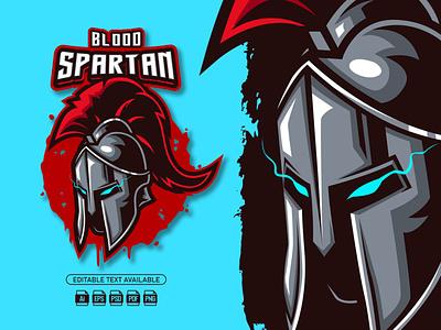 Blood Spartan || Mascot Logo twitch esport logo esports gaming logo gaming mascot mascot logo logo illustration graphic design design cartoon logo cartoon branding
