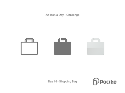 Icon Challenge Day 6 Shopping Bag stroke solid payment material line icon google shop gag flat shopping