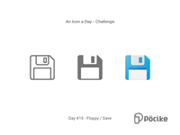 Icon Challenge Day 16 Floppy / Save