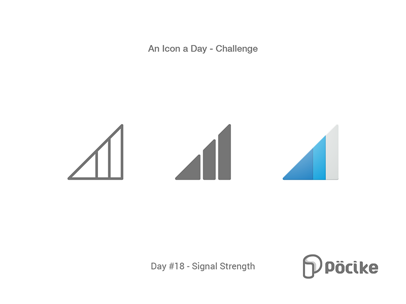 Icon Challenge Day 18 Signal Strength 4g stroke solid material line mobile icon glyph flat strength signal