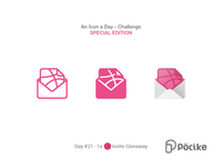 Dribbble Invite Giveaway - Icon Challenge Day 21