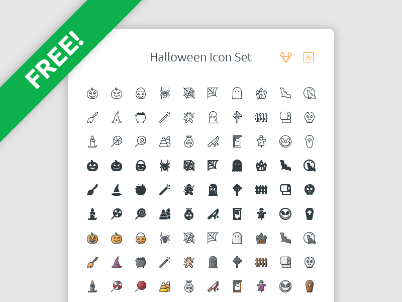 Free Halloween Icon Set sketch pumpkin download icons halloween set icon freebie free