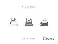 Icon Challenge Day 92 Typewriter
