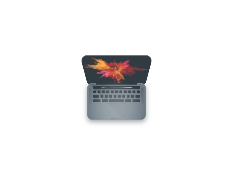 Space Gray Macbook Pro Icon bar touch material flat space gray apple pro macbook mac color icon