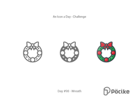 Icon Challenge Day 98 Wreath