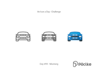 Icon Challenge Day 99 Mustang