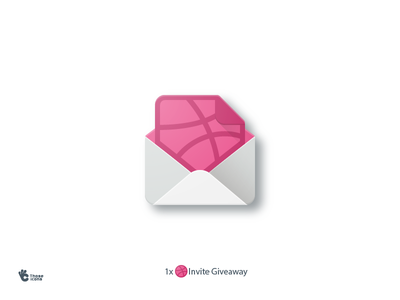 Invite Givaway! material flat design icon dribbble invite