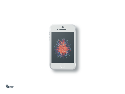 iPhone SE icon  design flat material icon se iphone
