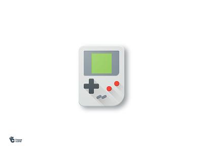 Gameboy Icon design flat icon material gameboy game boy play retro