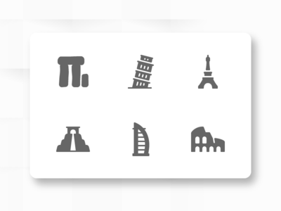 60 Places Icons