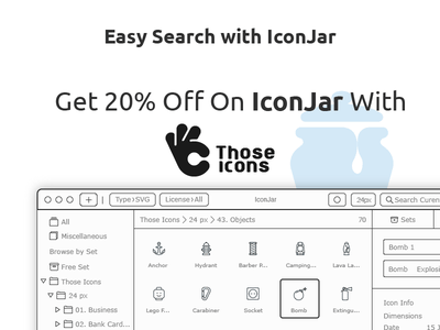 IconJar discount for Those Icons Users icon