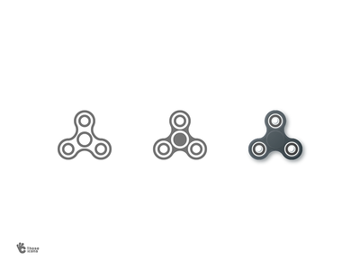 Fidget Spinner stress toy spinner fidget solid material line icon glyph flat