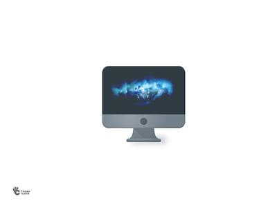 iMac Pro 2017 material flat color pro illsutration icon imac