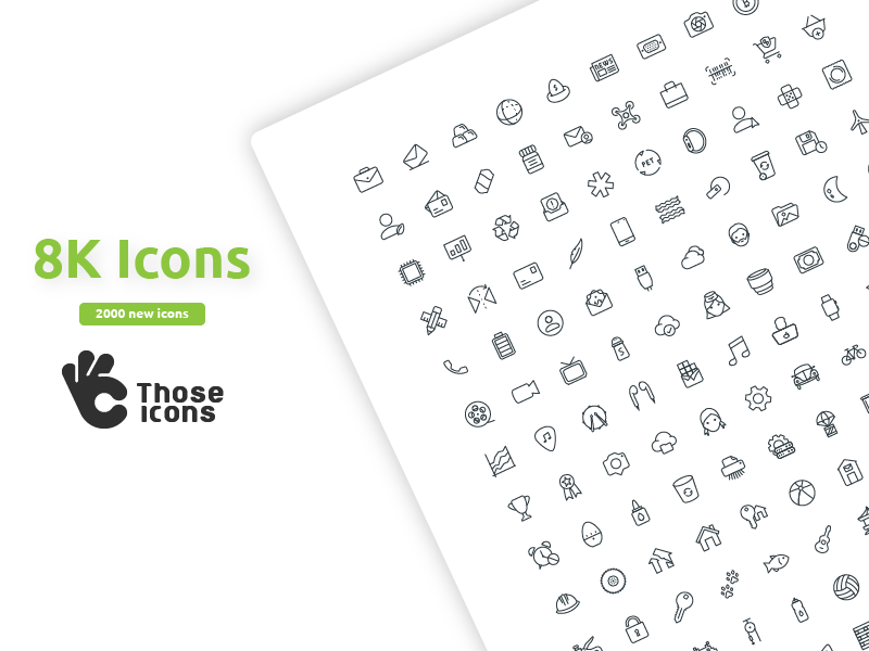 Those Icons Updat Pack Is Out! those icons icon set glyph icon line icon web website icon vector