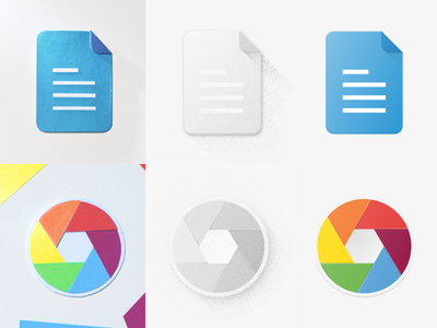 Flat Paper Style Icon Experiment