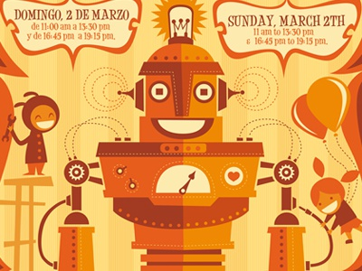 Robot Workshop For Children Poster For Pitarque Robots By Leone