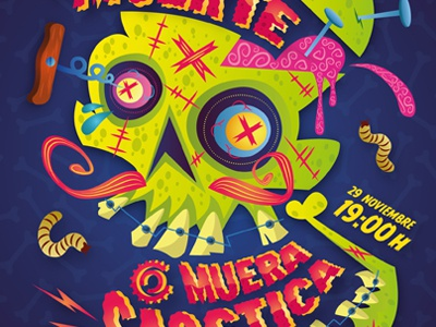 Viva la Muerte! illustration illustrator vector eyes cartoon skull death muerte viva