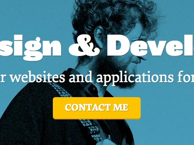Portfolio Redesign - Updated Hero web design css html typography website in browser css3 html5