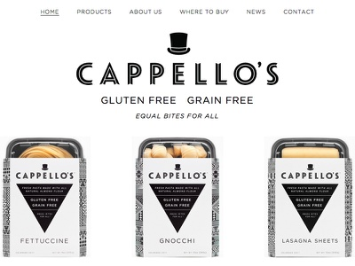 New Cappello's Design web website typography gotham hfj responsive black white