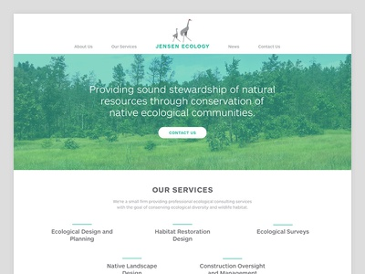 Jensen Ecology: Home Page web clean ecology landscape architecture environment green