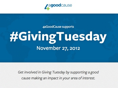 4aGoodCause #GivingTuesday Microsite web design css html typography website