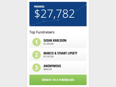 Fundraiser Sidebar ui ux clean sidebar website in browser css3 html5