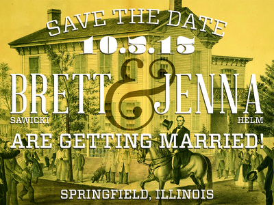 Save the Date wedding love design save the date lincoln illinois