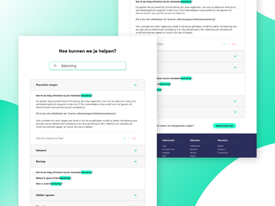New FAQ-page for CommonEasy ux icon illustrator green portfolio design question website concept web design website clean branding faq