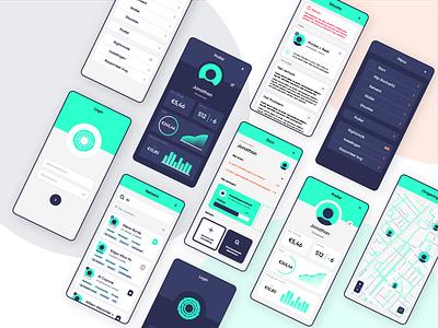 App-design voor CommonEasy (full) illustrator insurance money app menu mobile money portfolio design application app design app