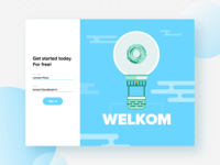 Sign up-Illustration for CommonEasy