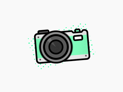 Say Cheese! product clean illustrator icon camera work green vector design branding illustration