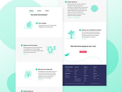 How it works ui ux about branding illustrator green clean web icon website concept how website vector portfolio work design illustration