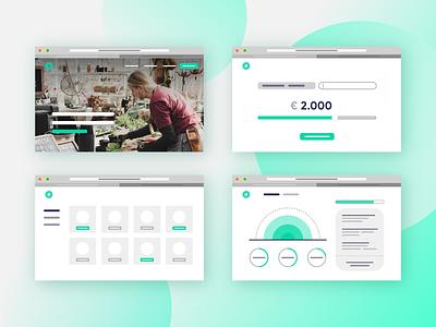 minimalistic product presentation saving dashboard website bank insurance green illustration branding product clean design portfolio ux design