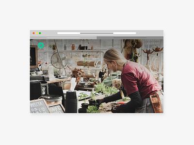 Minimal product presentation in motion! work green portfolio clean design illustration