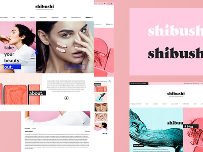 shibushi ecommerce design website color minimal shibushi fashion shop beauty ecommerce webdesign ui branding logo design