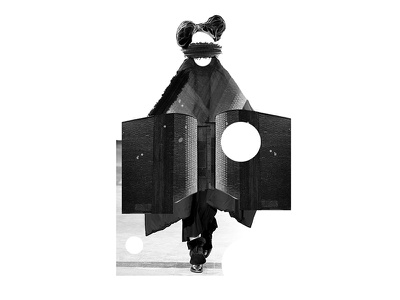 Yohji Yamamoto Fall-Winter 2014/15 yohji illustration collage editorial geometry abstract fashion